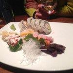 red menu - sashimi + tempura maki