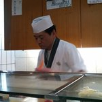 The very friendly samurai-sushi maker.