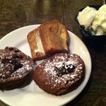 Chocolate Amore (molten lava) cakes, bread pudding and Vanilla Ice Cream!