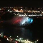 American Falls at night
