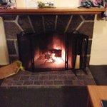 Fireplace!  Toasty!