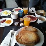 The breakfast we got our hands on