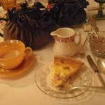 Lovely tea wares and delicious quiche