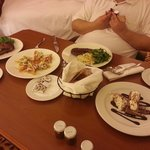 Room service dinner is beautiful and delicious. It's like eating at a restaura