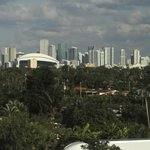 View from Hotel room overlooking Downtown Miami