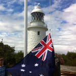 Raising the Australian Flag