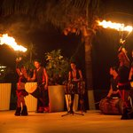 Fire dancer night at the hotel!