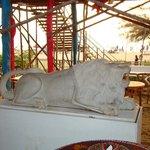 Lion Statue at the beach restaurant