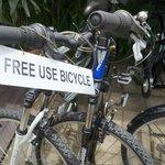 free usage of bicycle