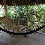 The hammock in our jungle hut terrace