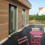 terrasse de deux chambres