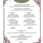 Thai New Year Menu