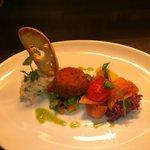 Shetland salmon plate