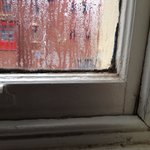 Bedroom window.. Freezing all night