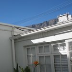 View of table Mountain from outside room patio