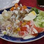 salade varié assaisonnée