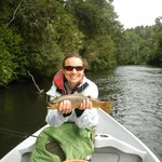 Alex's first trout on a fly!