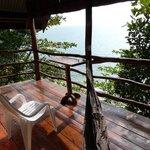 vue du balcon (deluxe sea view bungallow)