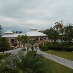 The courtyard of the resort.