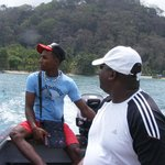 Ricardo (tour guide) assisting water taxi