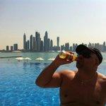 Dubai Marina in the background