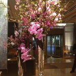 Beautiful flowers in the lobby