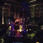 Atrium at night.