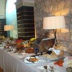la colazione: panoramica del buffet