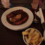 Irish sausage and mash