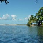 lagoon adjacent to beach