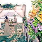 Our wedding on the beach