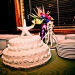 Our wedding cake from Las Palomas Restaurant