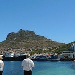 A panoramic view of Hout's Bay and Mariner's Wharf