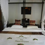 The bed was prepared like this when we arrived. What a lovely greeting!