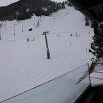 View onto beginner slopes