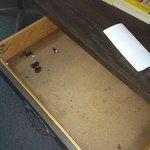 Inside the bureau drawers
