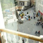 View of Istiklal Ave. from the window