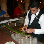 Jorge was one of the awesome bartenders at the evening bar