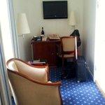 Rommet var utstyrt med TV