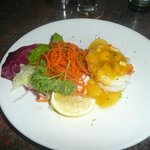 Steamed grouper filet with mango and herbs - himmlisch!!!