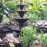 De fontein in de zen-tuin