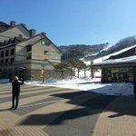 Entranc to ski