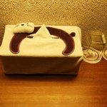 The cute kitty tissue box