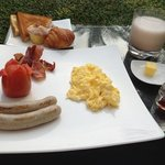 yummy western breakfast by the pool!