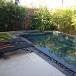 private pool - nice and warm!