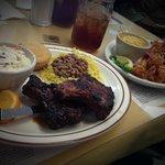 Glazed Pork Chops and Shrimp Creole