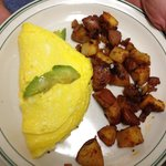 Bacon and avocado omelet!