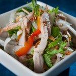 free range chicken salad - choice of soy vinaigrette or sesame dressing