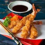 australian prawn katsu with house-made miso sauce