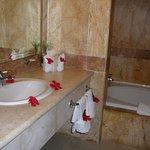 Belle salle de bains avec jacuzzi